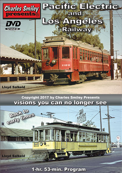 This DVD outlines the history of both of these famous electric rail lines. They were both started by Henry. E. Huntington at the beginning of the 20th Century. For a time they were intertwined and created with a similar purpose.   This program has a wealth of color movie film from 1940, to the complete end in 1963. The accurate sound recordings, accompanying these movie scenes, bring back the auditory experience of living in those bygone years.   Maps and graphics were specially created to enhance the relev